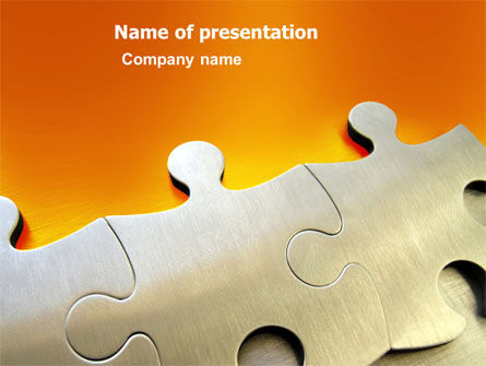 Puzzle Parts PowerPoint Template, 03435, Business Concepts — PoweredTemplate.com