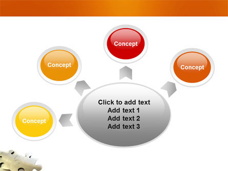 Puzzle Parts PowerPoint Template Slide 7