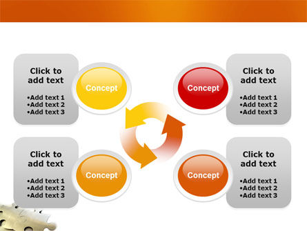Puzzle Parts PowerPoint Template Slide 9