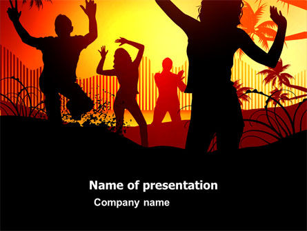 Holiday/Special Occasion: Party People PowerPoint Template #03438