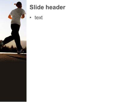 Morning Jogging PowerPoint Template, Slide 3, 03440, Sports — PoweredTemplate.com