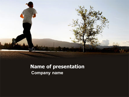 Sports: Morning Jogging PowerPoint Template #03440