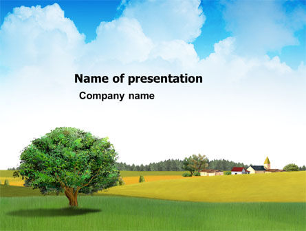 Country Paysage PowerPoint Template, 03441, Nature & Environment — PoweredTemplate.com