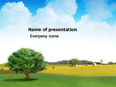 Nature & Environment: Country Paysage PowerPoint Template #03441