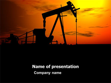 Oil Producer PowerPoint Template, 03444, Utilities/Industrial — PoweredTemplate.com