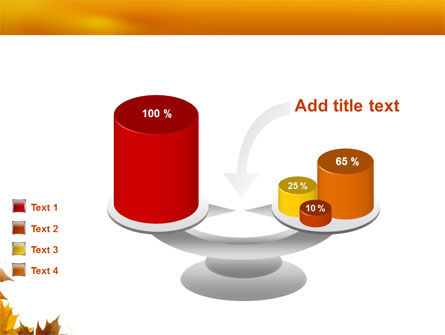 Yellow Leaves Frame PowerPoint Template Slide 10