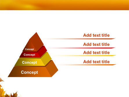 Yellow Leaves Frame PowerPoint Template Slide 12