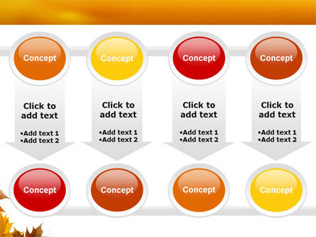Yellow Leaves Frame PowerPoint Template Slide 18