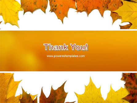 Yellow Leaves Frame PowerPoint Template Slide 20