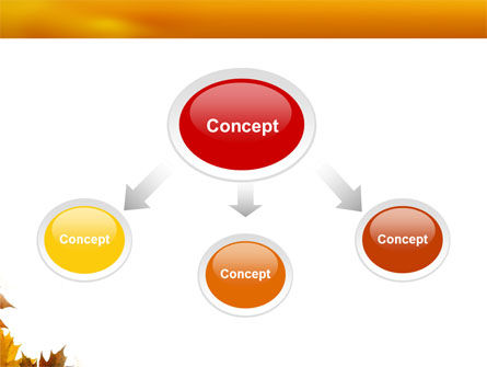 Yellow Leaves Frame PowerPoint Template Slide 4