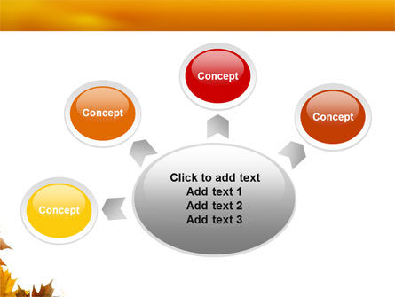 Yellow Leaves Frame PowerPoint Template Slide 7