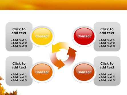 Yellow Leaves Frame PowerPoint Template Slide 9