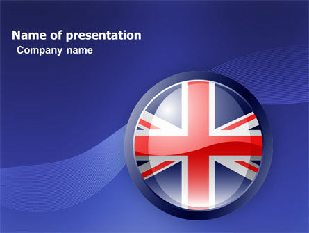 Flags/International: United Kingdom PowerPoint Template #03448