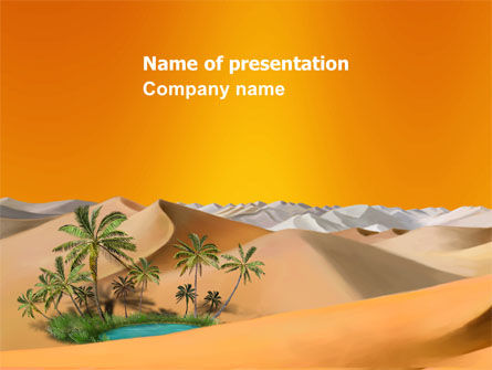 Oasis PowerPoint Template, 03452, Nature & Environment — PoweredTemplate.com
