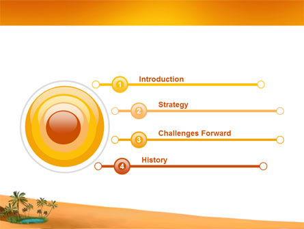 Oasis PowerPoint Template, Slide 3, 03452, Nature & Environment — PoweredTemplate.com