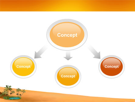 Oasis PowerPoint Template, Slide 4, 03452, Nature & Environment — PoweredTemplate.com