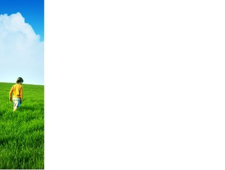 Girl On The Green Field PowerPoint Template, Slide 3, 03453, Nature & Environment — PoweredTemplate.com