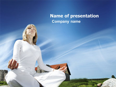 Countryside For Meditation PowerPoint Template, 03454, Religious/Spiritual — PoweredTemplate.com