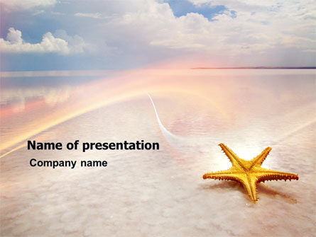 Nature & Environment: Templat PowerPoint Bintang Laut #03456