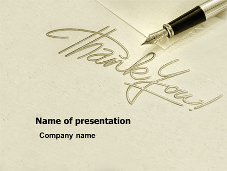 Thank You PowerPoint Template, 03457, Business — PoweredTemplate.com