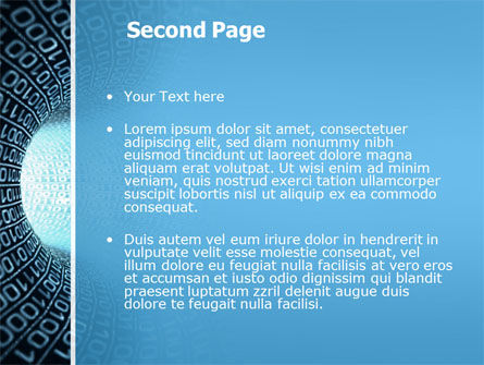 Binary Code Tube PowerPoint Template, Slide 2, 03458, Technology and Science — PoweredTemplate.com