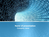 Technology and Science: Binary Code Tube PowerPoint Template #03458