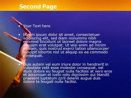 Diving Sport PowerPoint Template, Slide 2, 03460, Sports — PoweredTemplate.com