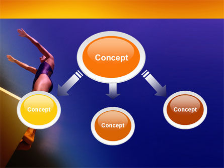 Diving Sport PowerPoint Template, Slide 4, 03460, Sports — PoweredTemplate.com