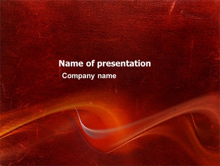 Red Texture PowerPoint Template, 03461, Abstract/Textures — PoweredTemplate.com