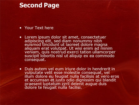 Red Texture PowerPoint Template Slide 2