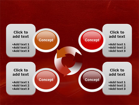 Red Texture PowerPoint Template Slide 9