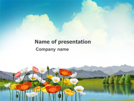 Nature & Environment: Lake PowerPoint Template #03462