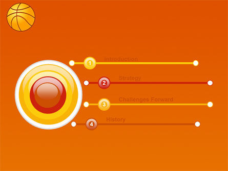 Basketball Field Powerpoint Template, Backgrounds | 03463