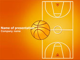Sports: Basketball Field PowerPoint Template #03463