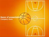Sports: Modelo do PowerPoint - campo de basquete #03463