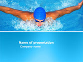 Sports: Swimming Stroke PowerPoint Template #03464