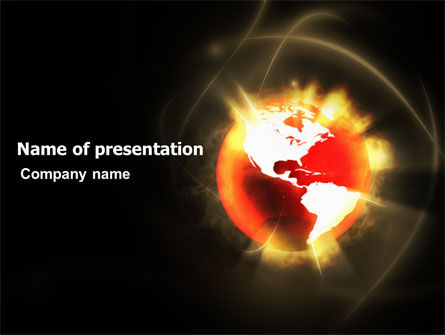 Global: Planet erde PowerPoint Vorlage #03468