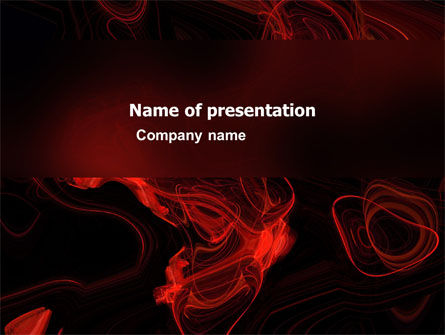 Abstract/Textures: Red Curls PowerPoint Template #03469