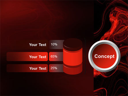 Red Curls PowerPoint Template Slide 11