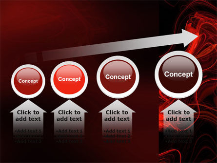 Red Curls PowerPoint Template Slide 13