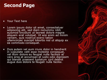 Red Curls PowerPoint Template Slide 2