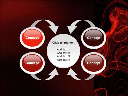 Red Curls PowerPoint Template Slide 6