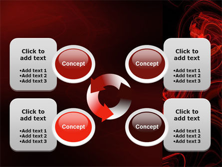 Red Curls PowerPoint Template Slide 9