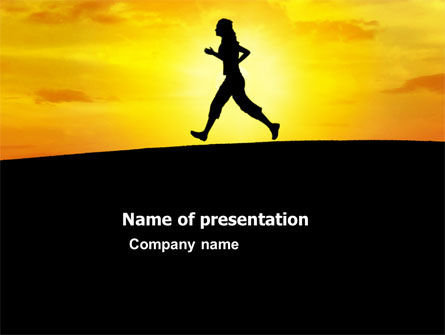 Sports: Run PowerPoint Template #03470