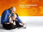 Education & Training: Modèle PowerPoint de alphabétisation informatique #03473