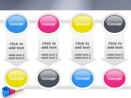 CMYK PowerPoint Template Slide 18