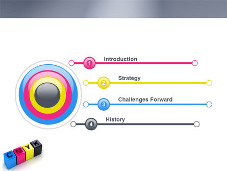 CMYK PowerPoint Template Slide 3