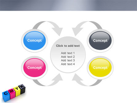 CMYK PowerPoint Template Slide 6
