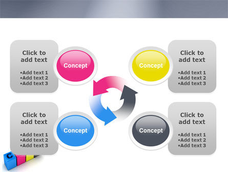CMYK PowerPoint Template Slide 9