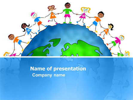 Friendship And Unity PowerPoint Template, 03475, Global — PoweredTemplate.com